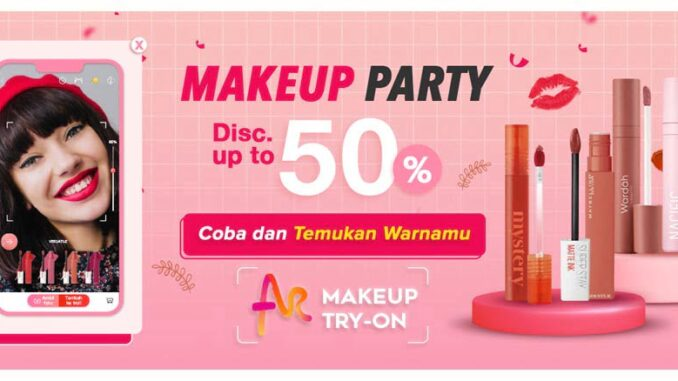 Fitur AR Make-up Try On